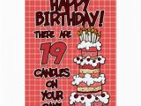 Birthday Cards for 19 Year Olds Happy Birthday 19 Years Old Card Zazzle