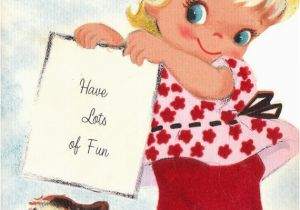 Birthday Cards For 2 Year Olds Vintage 1960s Happy Old Greetings Card B4a