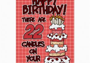 Birthday Cards For 22 Year Olds Happy Years Old Greeting Card Zazzle