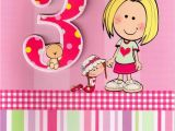 Birthday Cards for 3 Years Old Girl Girls 3rd Birthday 3 Three today Card Cards Love Kates