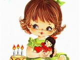 Birthday Cards for 3 Years Old Girl Vintage Birthday Card for A Three Year Old Big Eyed Girl