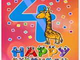 Birthday Cards For 4 Year Olds Happy 4th Wishes Old Boy Or