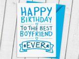 Birthday Cards for A Boyfriend Happy Birthday Boyfriend Card by A is for Alphabet