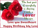 Birthday Cards for A Lover Birthday Wishes for Lover Photo and Birthday Messages