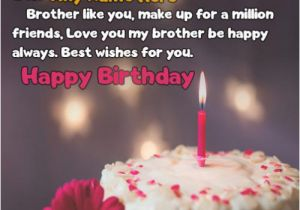 Birthday Cards For Brother With Name Candle Cake Wishes