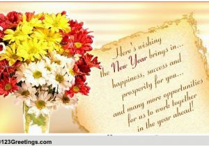 Birthday Cards for Business associates Success Prosperity On New Year Free Business Greetings
