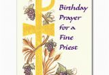 Birthday Cards for Catholic Priests A Birthday Prayer for A Fine Priest Birthday Card
