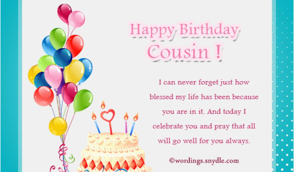 Birthday Cards For Cousin Sister Birthday Wishes For Cousin Wordings