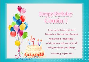 Birthday Cards For Cousin Sister Wishes Wordings And Messages