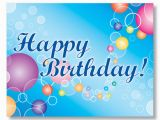 Birthday Cards for Customers Color Drops and Rings Birthday Card for Employees