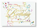 Birthday Cards for Customers Confetti and Streamers Birthday Card