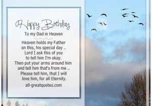 Birthday Cards for Dad In Heaven Happy Birthday to My Dad In Heaven Heaven Holds My Father
