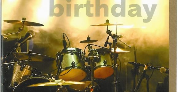 Birthday Cards for Drummers Drums Birthday Card