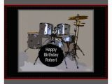 Birthday Cards for Drummers Happy Birthday Wishes with Drum
