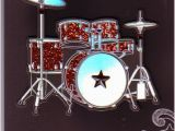 Birthday Cards for Drummers Personalised Braille Birthday Wishes 3d Raised Drum Kit