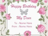 Birthday Cards for Facebook with Name Create Custom Birthday Wishes Greeting Card with Name