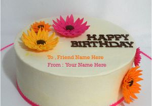 Birthday Cards For Friends With Name Wishes Cake Best Friend Greeting Card