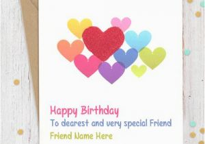 Birthday Cards for Friends with Name Sweet Birthday Card for Friends