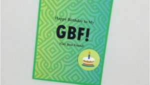 Birthday Cards for Gay Friends Gay Best Friend Birthday Card