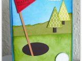 Birthday Cards for Golfers Flower Sparkle Golf Birthday Card for Brett