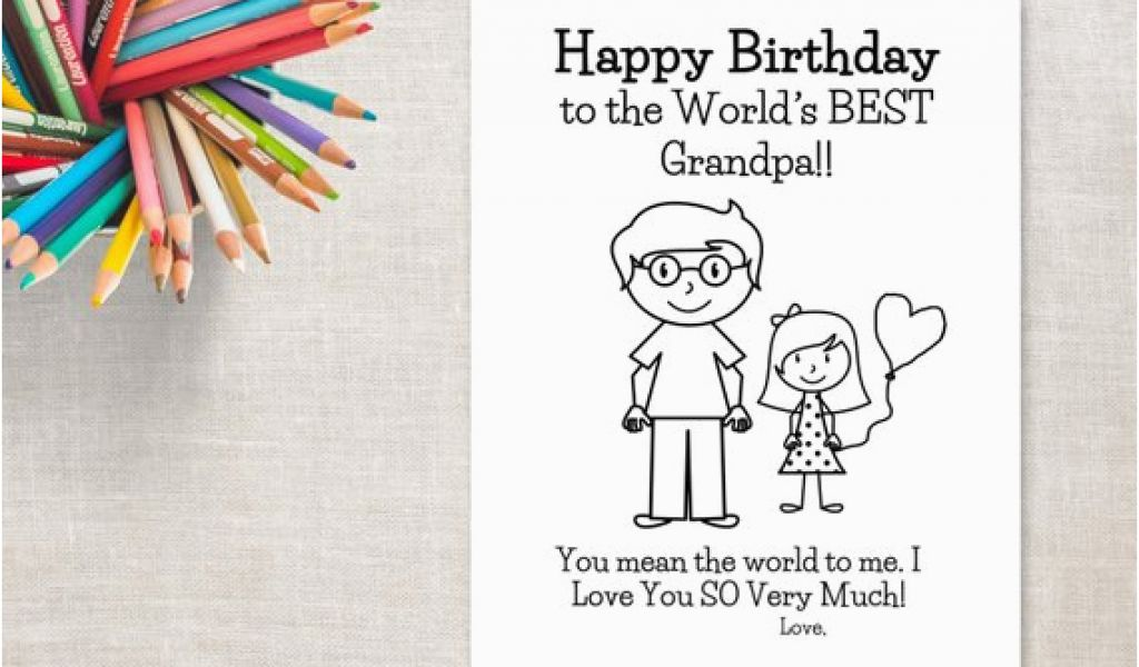 graphic relating to Grandpa Birthday Card Printable titled Birthday Playing cards for Grandpa In opposition to Granddaughter Birthday