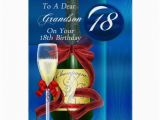 Birthday Cards for Grandson to Print 18th Birthday Grandson Modern Greeting Card Zazzle