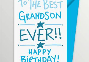 Birthday Cards for Grandson to Print Grandson Birthday Card by A is for Alphabet