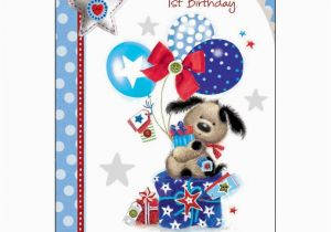 Birthday Cards for Grandson to Print Special Grandson 39 S 1st Birthday Card Karenza Paperie
