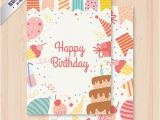 Birthday Cards for Her Free Download Cute Birthday Card Vector Free Download