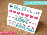 Birthday Cards for Husband Printable Freebie Printable Card to My Husband A Love Note Card