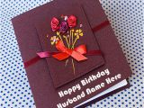 Birthday Cards for Husband with Name and Photo Birthday Cards for Husband with Name