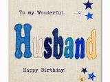 Birthday Cards for Husband with Name and Photo Hand Finished Wonderful Husband Birthday Card Karenza