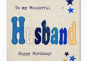 Birthday Cards For Husband With Name And Photo Hand Finished Wonderful Card Karenza