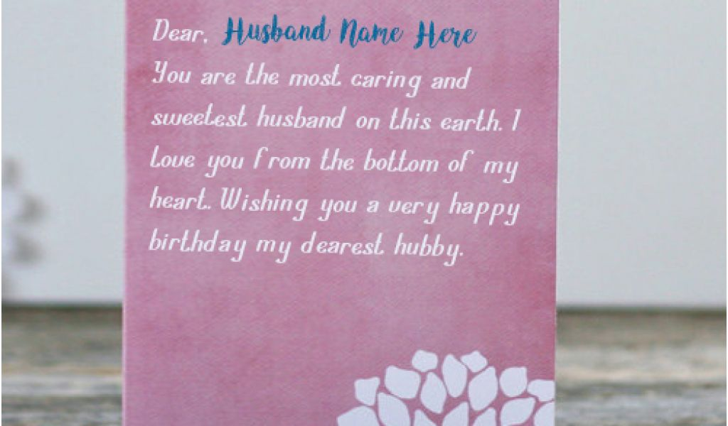 Birthday Cards For Husband With Name And Photo Write