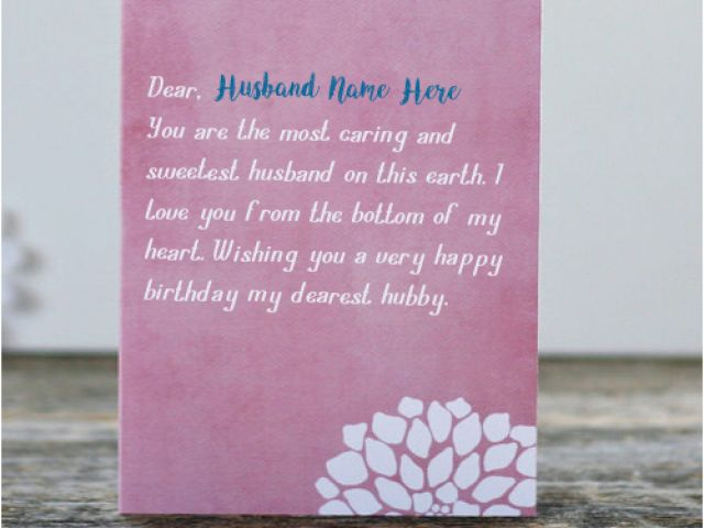 Birthday Cards For Husband With Name And Photo Write Husband Name