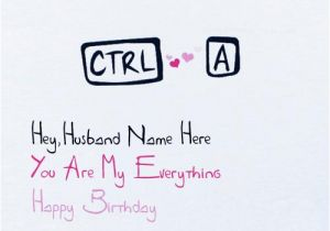 Birthday Cards For Husband With Name Funny Card