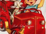Birthday Cards for Little Boys 1950s Happy Birthday Little Boy Fire Chief Vintage Greetings