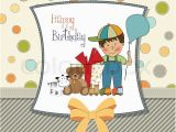 Birthday Cards for Little Boys Birthday Greeting Card with Little Boy and Presents