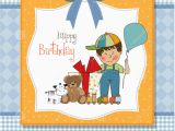 Birthday Cards for Little Boys Birthday Greeting Card with Little Boy Stock Illustration