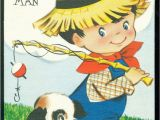Birthday Cards for Little Boys Vintage Birthday Card for Little Boy Birthday Wishes