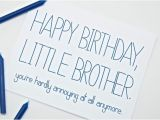 Birthday Cards for Little Brother Funny Birthday for Little Brother Www Imgkid Com the