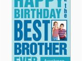 Birthday Cards for Little Brother Photo Birthday Card for Best Brother