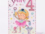 Birthday Cards for Little Girls Giant 4th Birthday Card Little Girl Only 99p