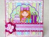 Birthday Cards for Little Girls Girl 39 S Birthday Card Valbydesign