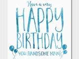 Birthday Cards for Males 39 Handsome Man 39 Birthday Card by Ivorymint Stationery