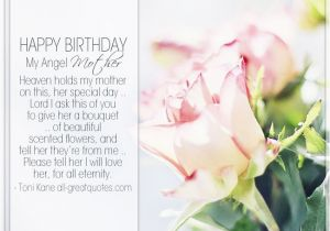 Birthday Cards For Mom In Heaven Happy My Angel Mother Holds