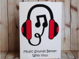 Birthday Cards for Music Lovers Music Lovers Birthday Card Dj Headphones by
