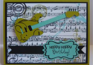Birthday Cards For Musicians Crafting With Katie Musical Manly Card