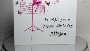 Birthday Cards for Musicians Luxury Handmade Personalised Birthday Card Musical