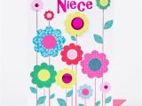 Birthday Cards for Nieces Birthday Card Niece Colourful Flowers Only 79p
